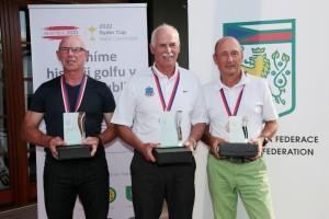 Kategorie Seniorů: druhý Enno Heistermann, vítězný Karl-Heinz Wunderlich (oba Německo) a třetí Stanislav Kopejtko (RGC Mariánské Lázně)