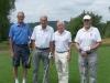 Vlevo president ESGA a hráč družstva Belgie Cup 75+ p. Georges Gevers (79), druhý zprava nejstarší účastník z ČR p. Stanislav Prauzek (81)